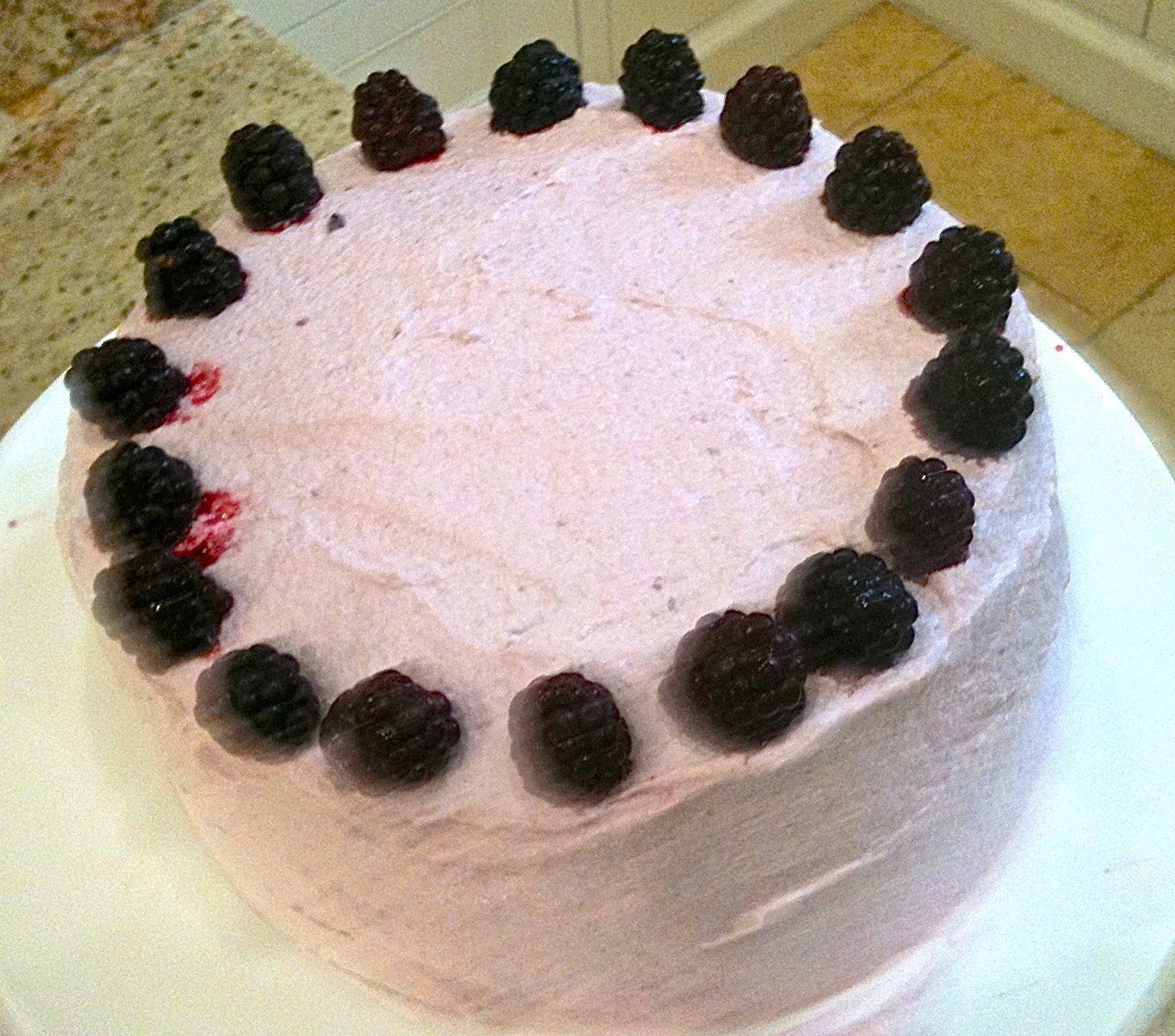 Blackberry Lemon Elderflower Cake Recipe — Dishmaps